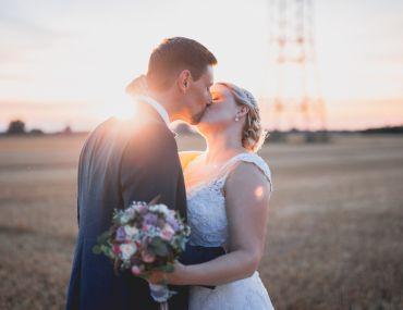 Hochzeitsfotos mit Sonnenuntergang- Sabrina & Aaron